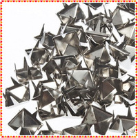 250pcs 8MM Pyramid Studs Spots Nickel Punk Rock Design Spikes Heavy Duty cloth shoes DIY Craft  Free / Drop Shipping