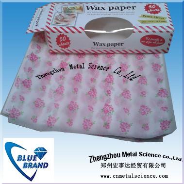 custom wax paper