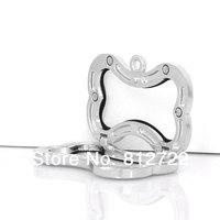 5pcs Vnistar Glass Pendants Bone Floating Lockets Zinc Alloy Locket Pendants VSP014