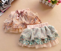 Retail ! summer New arrivel Baby girls skirt Chinoiserie skirt Girls chiffon Baby cake skirt  Free shipping