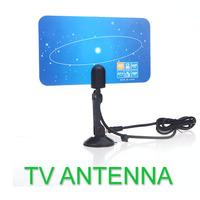 Digital Indoor TV Antenna HDTV DTV HD VHF UHF Flat Design High Gain US Plug