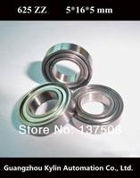 Best Price!10 pcs 625ZZ ABEC-5 Deep groove ball bearing,bearing steel 5X16X5 mm 625 2Z free shipping