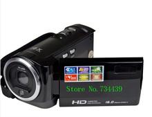 "16 Mp Max 720P HD 16 X Digital Zoom Digital Video Camera Digital Camcorders with 2.4"" LCD Screen Lithium Battery,Free Shipping(China (Mainland))"