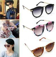 1 Pcs Women's Unisex Mens Sunglasses Arrow Style Eyewear Round Sunglasses Metal Frame