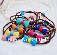 Free Shipping 2014 fashion hair rope girls hair holder elastic band for hair 20 pcs lot  PEB-0102