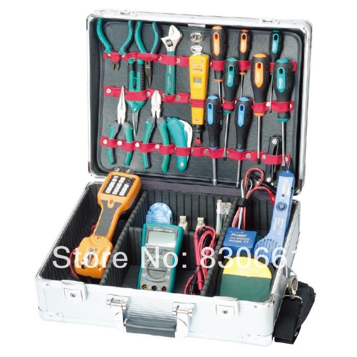Proskit Hand Tool Kits PK-14019B Communications Maintenance Kit (220V/Metric Size)(China (Mainland))