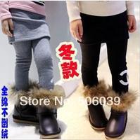 Free shipping wholse price new winter children's render culottes  child winter female child basic skirt pants