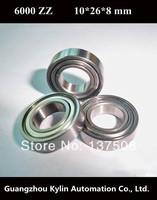 Best Price! 10 pcs 6000ZZ ABEC-5 Deep groove ball bearing,bearing steel 10X26X8 mm 6000 2Z free shipping