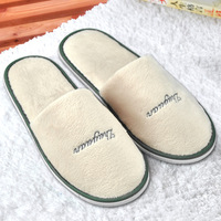 Disposable super soft slippers beige super platform slippers at home
