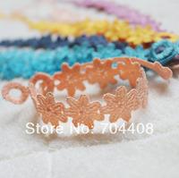 Min.Order 2500pcs HOT NEW 2014 fashion bracelets Japanese sakura Lace Macrame Bracelet 6colors mixed DHL free shipping