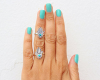 Min Order $10(Can Mix Item) Vintage The hand of Fatima  figer ring ,midi ring  Knuckle Rings