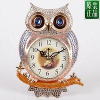 Fashion mute clock metal iron fashion rustic wall clock personality owl clock and watch