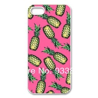 Case for iphone 5 5s 5g apple 5s case necessary for sunmmer pineapple the fruits a healthy style free shipping