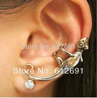 Hot sale  Fashion gecko ear clips earring no pierced ear cuffs earrings 2015 new C-type ear clip LM-C113