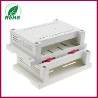 4pcs/lot plastic box for electronic project pcb din rail enclosure 145*90*40mm 5.7x3.54x1.57inch