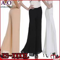New 2014 summer spring fashion women wide leg pants plus size high waist vented casual pants XS-4XL