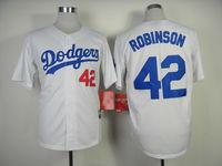 stitched Free Shipping 2014 Baseball Jersey Los Angeles Dodgers #42 Jackie Robinson Cool Base baseball shirt