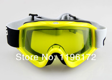 Free Shipping YELLOW FRAME YELLOW LENS SKI SNOWBOARD GOGGLES Motocross ATV MX Off-Road Goggles(China (Mainland))