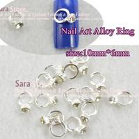 20pcs*Nail Metal Charm Ring with Rhinstone  Fashion Nail Art Decoration Dropshipping L002
