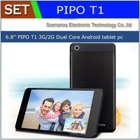 "Freeshipping 6.8 "" Pipo T1 3G Tablet PC 960x540 Android 4.2 MTK6572 Dual Core SIM Phone Call 2.0MP WCDMA WiFi GPS russian brazil"