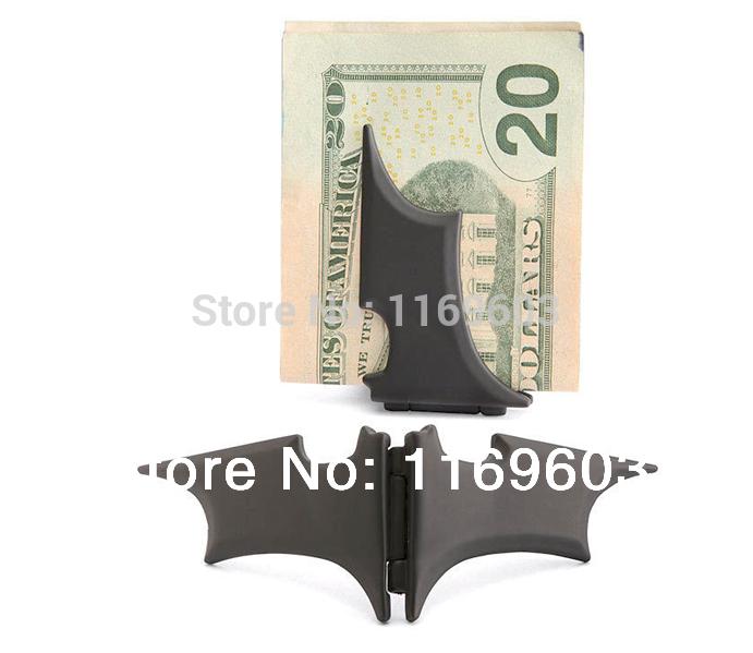 "Man stainless steel Batman ""Batarang"" Money Clip Black(China (Mainland))"