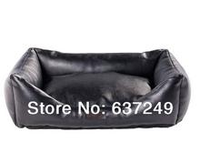 popular black leather bed