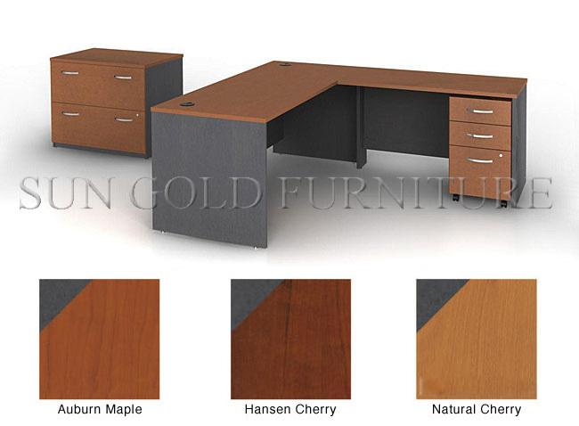 Modern melamine L style office desk(SZ-OD076)(China (Mainland))