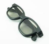 Real D plastic black frame circular polarized 3D glasses  for 3D TV