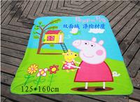 2014 peppa pig and gorge blanket.peppa pig toy  rug for kids playing rug.peppa pig playing towel blanket