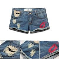 2014 Fashion designer  Brand denim shorts women jeans lady a shorts pants garment 19 style S-XXL Free Shipping