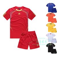 2014 Children's clothing soccer jersey short-sleeve football clothing child training service uniform football
