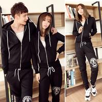 Skull lovers casual wear set sweatshirt sportswear set thin thick p120 c1072-85