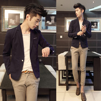 2013 autumn and winter color solid color male suit three-color c946-120