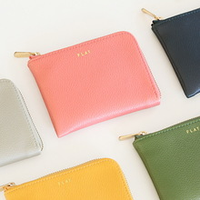 Livework candy color brief leather coin purse flat wallet Small(China (Mainland))