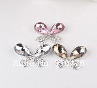 Universal Phone Case DIY Materials Alloy Butterfly Diamond Jewelry Accessories for iPhone 5 5S for Samsung Galaxy S4