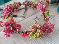 4601 FESTIVAL GARLAND/ARTIFCIAL FRUIT WREATH/FAKE FLOWER HAIRBANDS/CHRISTMAST SUPPLIES/GIRL GARLAND/BIRTHDAY PARTY HEADWEAR