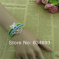 Love in Heart Butterfly charm Bracelet for Friendship Gift Bridesmaid gift