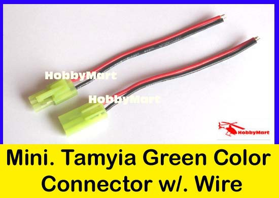 5 Pair of Green Mini.TAMIYA EL4.5 Male Female Connector with 20AWG Silicone Wire(China (Mainland))