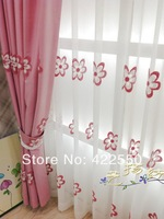 Thick cotton pink children's room bedroom semi- blackout soundproofing custom curtains