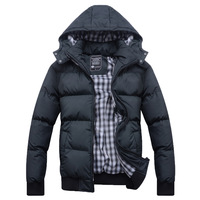 2013 thickening thermal cotton-padded jacket male autumn and winter outerwear wadded jacket plus size male cotton-padded jacket