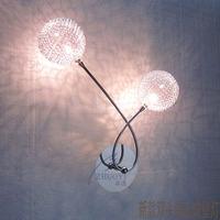 Led lighting wall lamp modern brief aluminum wire ball wall lamp iron plumbing trap wall lamp study light