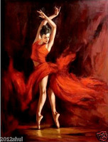 Large canvas no frame Modern Abstract Oil Painting: ballet Wall Art Decor 045