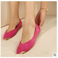 2014 new female fashion leisure pointed flat shoes comfortable casual shoes size 34-43