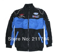 Men's Cotton Jacket with Ads, Racing Clothes Logo Mobilo1 for Ford Advertising  Ads,Casual Coat