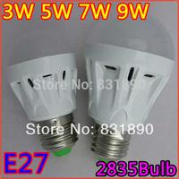 3pc/lotPlastic bulb 3w5w7w9w led ball bulb lamp finished product lamp e27screw-mount plastic shell2835patients bulb freeshipping