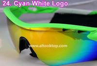 Free shipping Cyan white black sport eyeglasses radarlock Men sun glasses 5 lens cycling eyewear oculos sunglasses gafas de sol