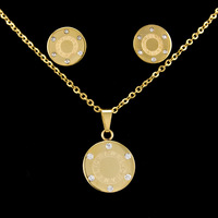 new hot sale letter 18K gold jewelry design lovely romantic small Pendant Necklace with chain 316L stainless steel gift