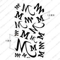 Tattoo stickers waterproof female letter tattoo stickers hm398
