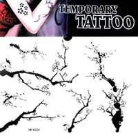 Waterproof tattoo sticker branches rattails tattoo stickers personalized ym-k034