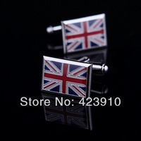 Hight-quality UK Flag Unisex Mens Ladies Womens Cufflinks Business Wedding Dress Party Gift Shirt Cuff Links Sleeve Nail